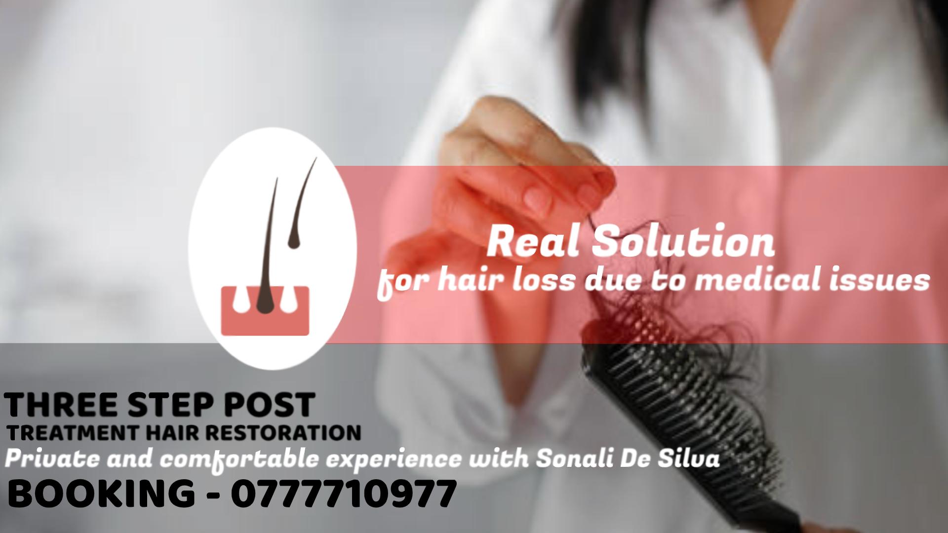 THREE STEP POST TREATMENT HAIR RESTORATION